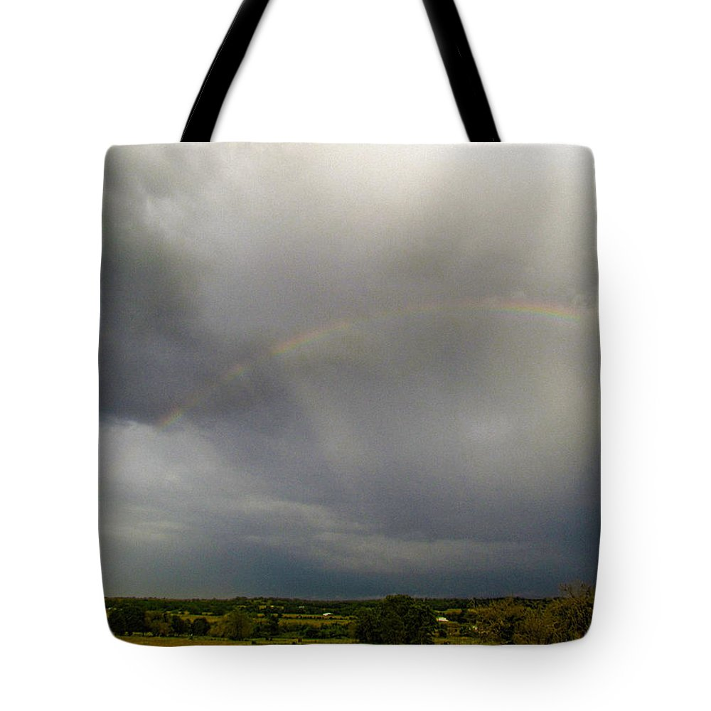 Rainbows Tote Bag featuring the photograph Rainbow Spokes by Shannon Story