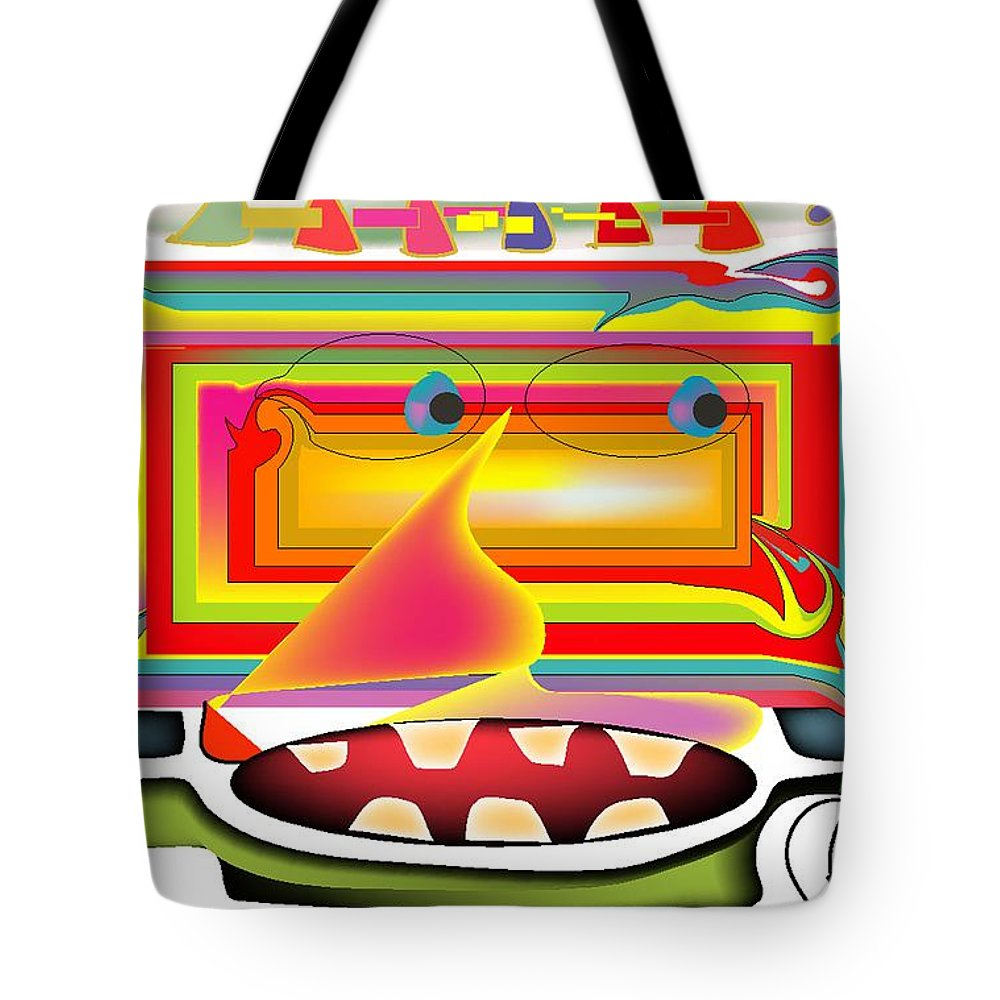 Life's Crazy Tote Bag featuring the digital art Rainbow Warrior by Andy Cordan