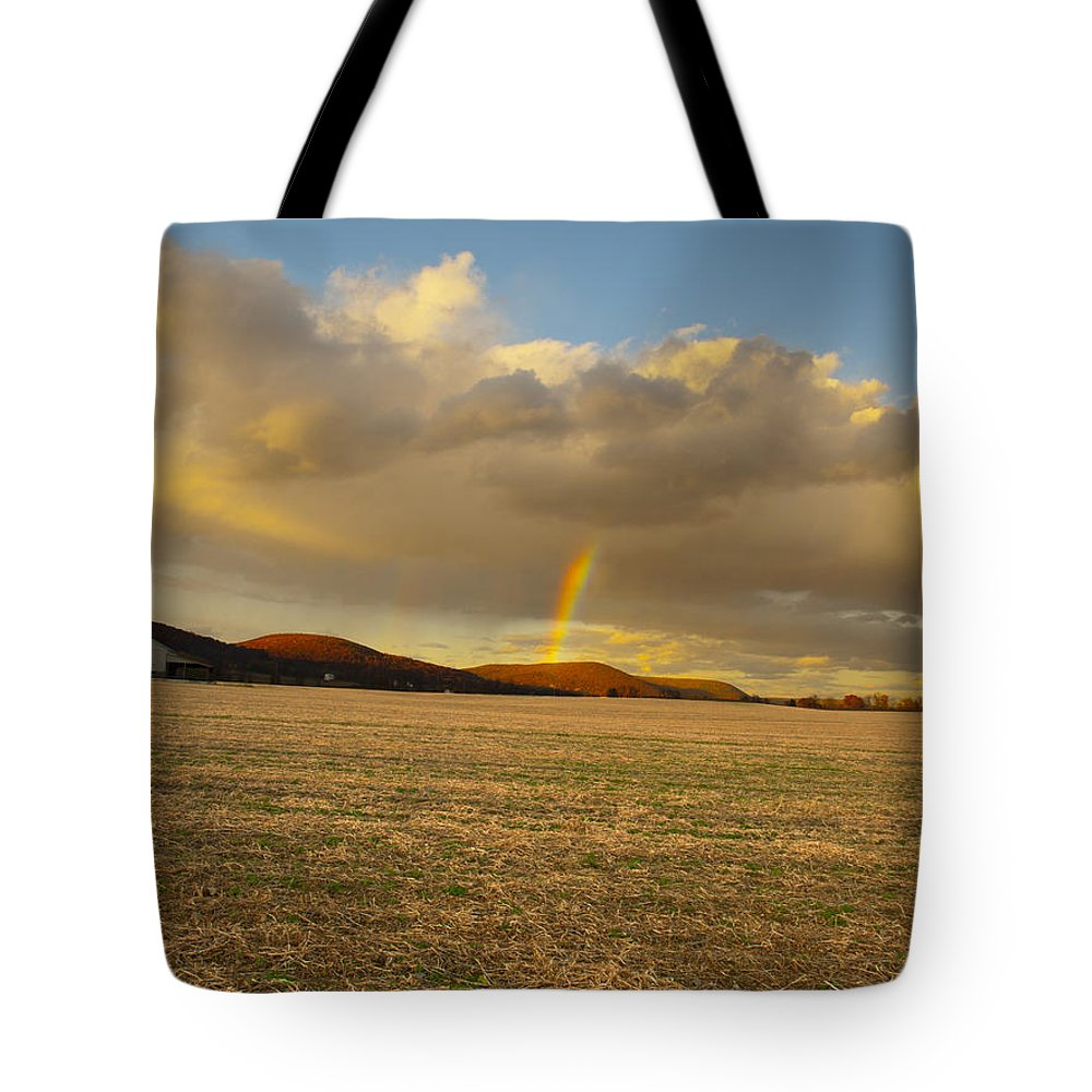 Joshua House Photography Tote Bag featuring the photograph Rainbows And Ridges by Joshua House
