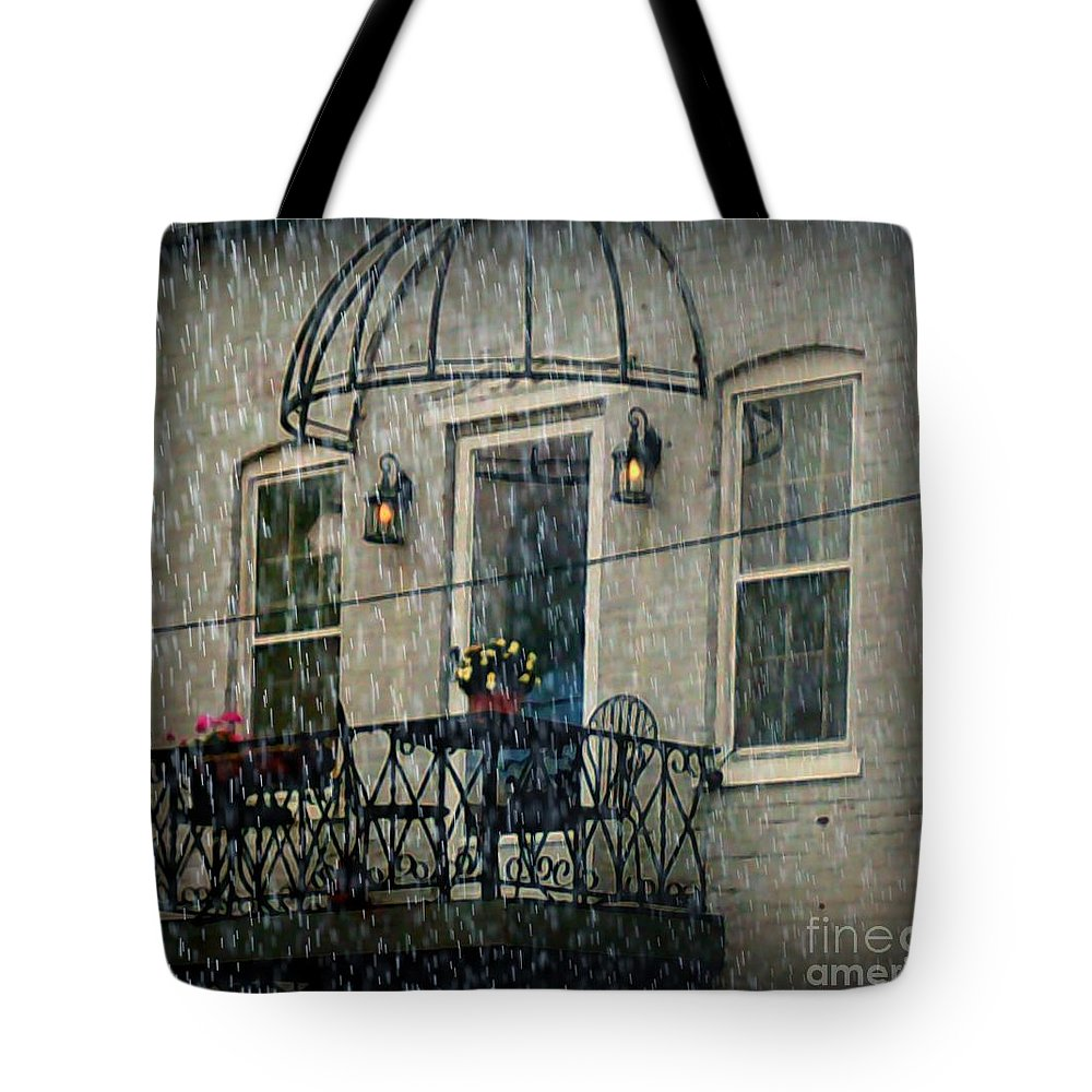 Tote Bag featuring the photograph Rainy Day by Kelly Awad