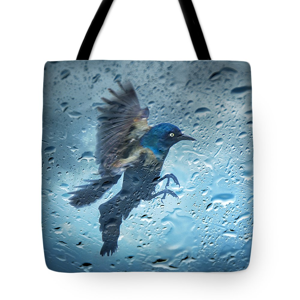 Water Tote Bag featuring the photograph Rainy Day by Steven Michael