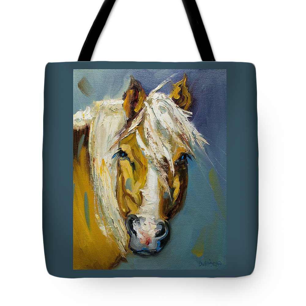 Horse Tote Bag featuring the painting Ranch Horse by Diane Whitehead