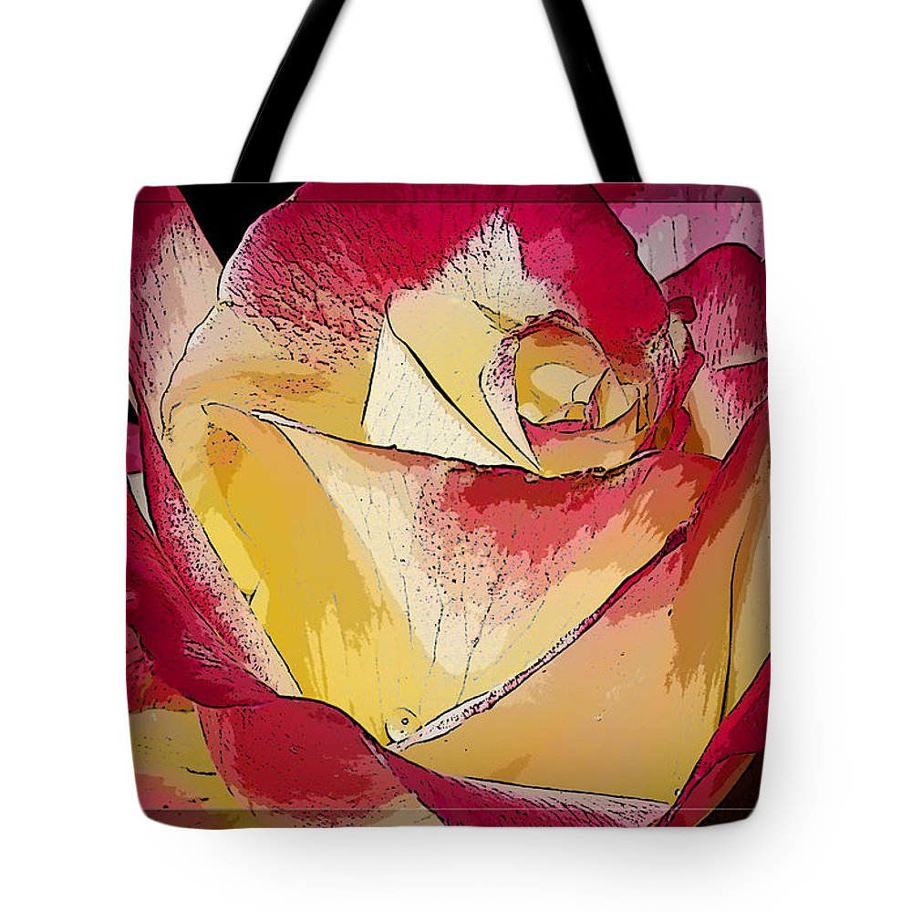 Rose Tote Bag featuring the photograph Rasberries And Cream Painterly by Phyllis Denton
