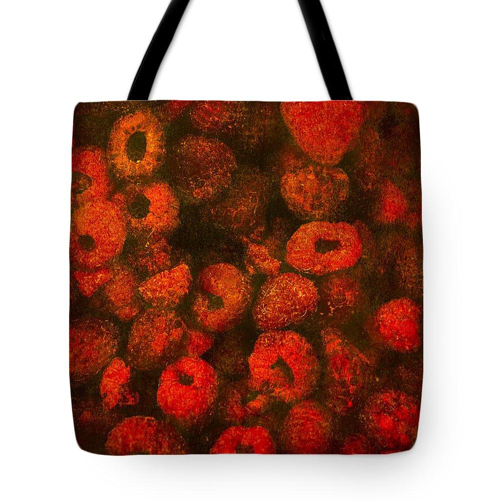 Raspberries Tote Bag featuring the photograph Raspberries by Alexander Senin