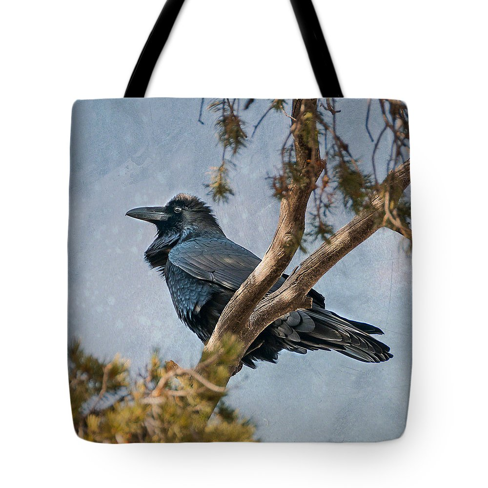 Arizona Tote Bag featuring the photograph Raven by Alan Toepfer