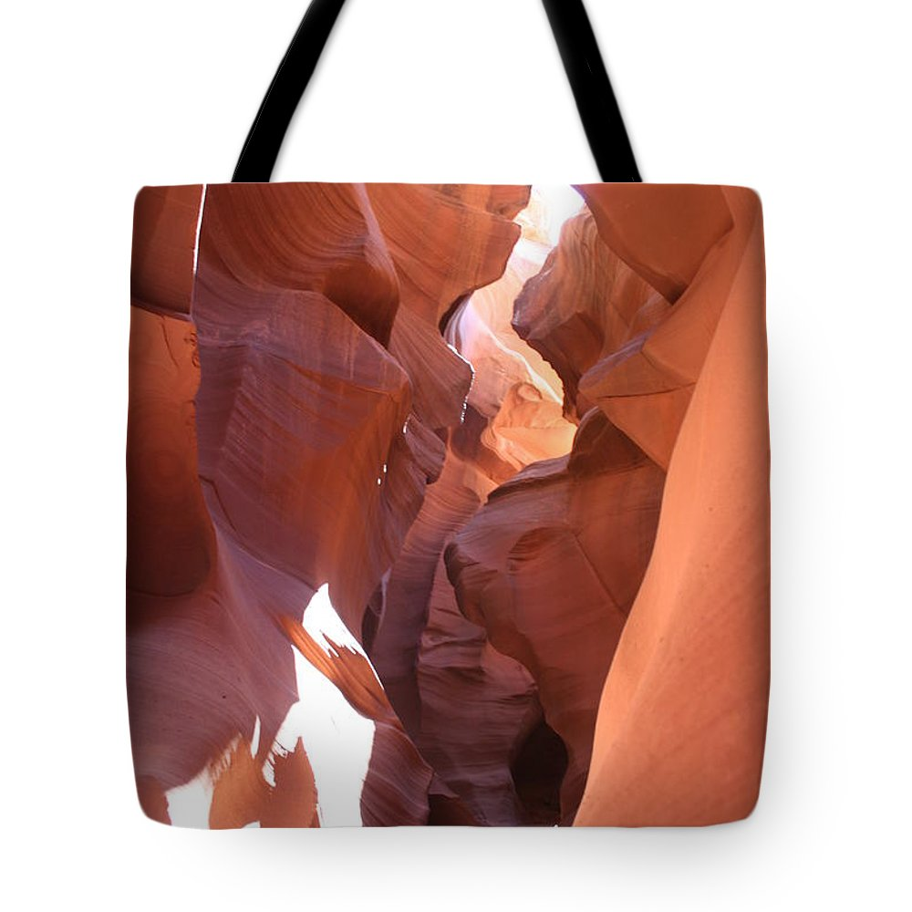 Canyon Tote Bag featuring the photograph Ravine Walk - Antelope Canyon by Christiane Schulze Art And Photography