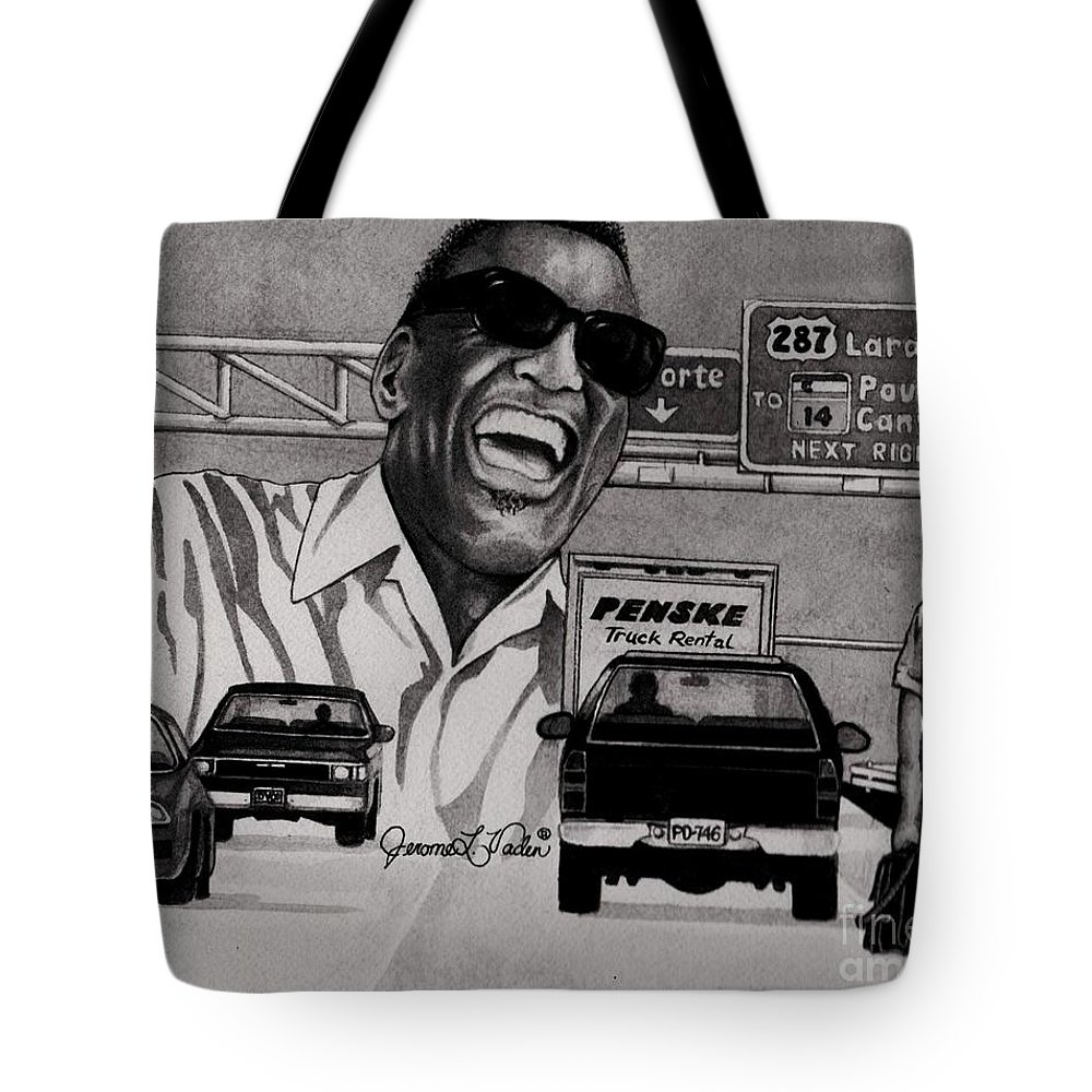 American Singer-songwriter Tote Bag featuring the painting Ray Charles by JL Vaden