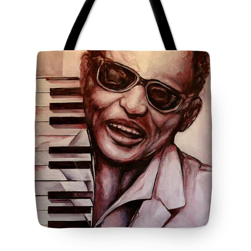 Original Fine Art By Lloyd Deberry Tote Bag featuring the painting Ray The Print by Lloyd DeBerry