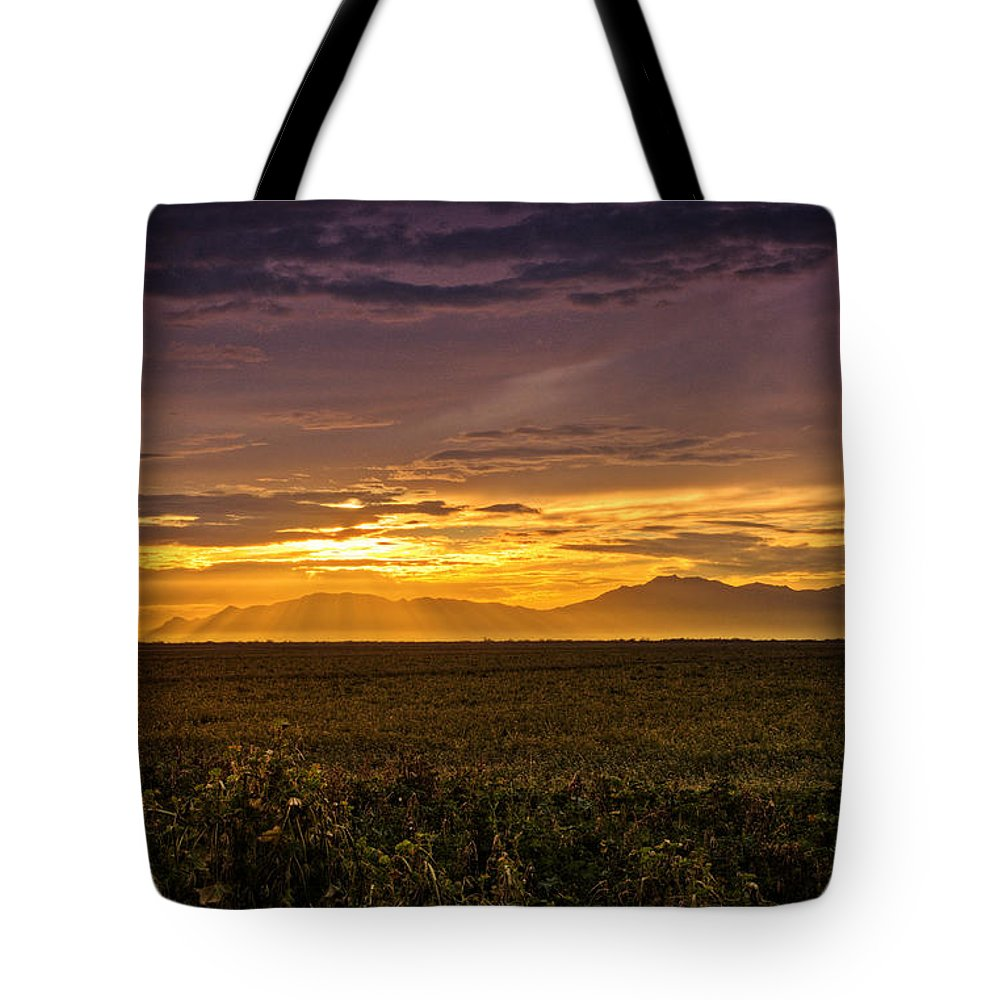 Sunset Tote Bag featuring the photograph Rays Of Hope by Saija Lehtonen
