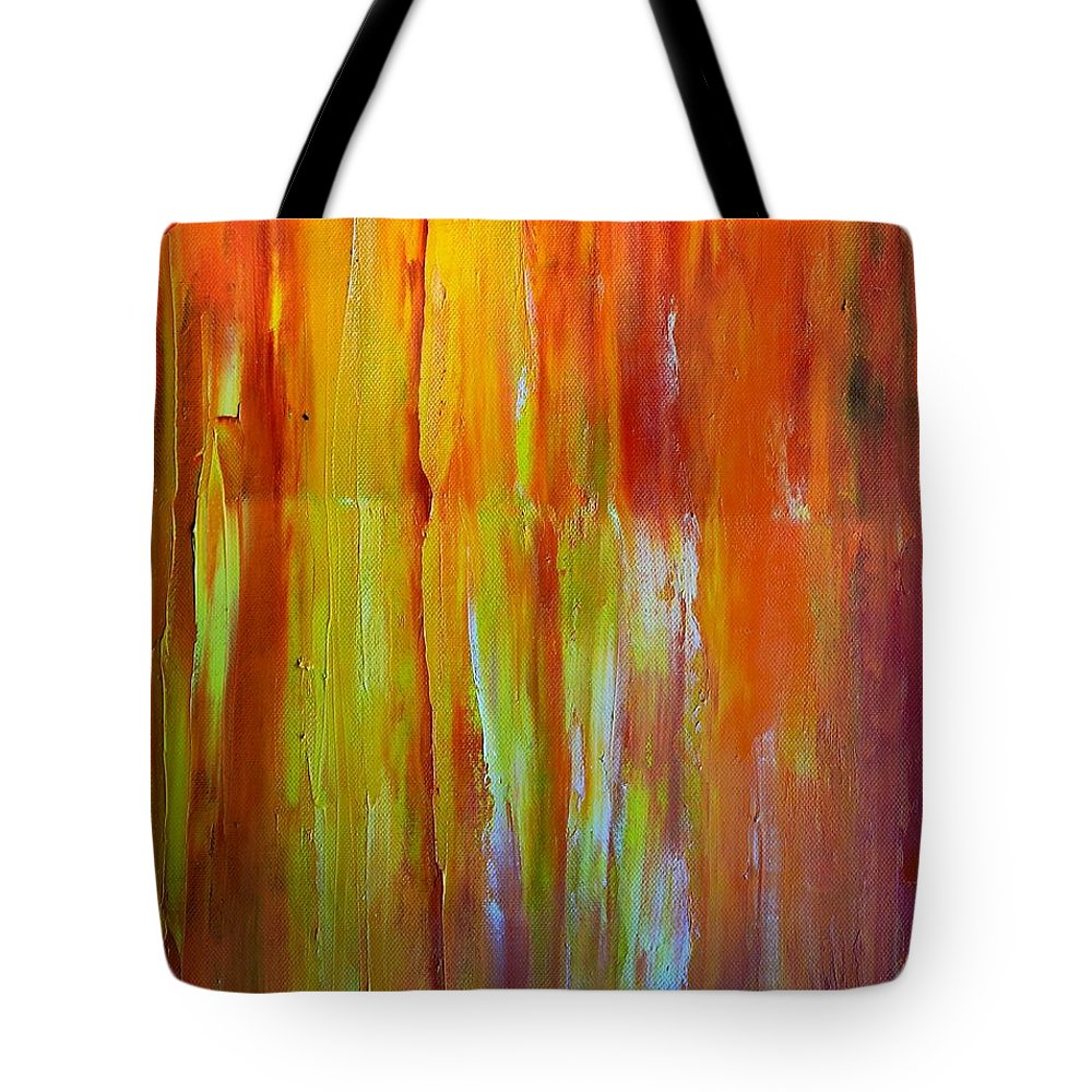 Abstract Tote Bag featuring the painting Rays Of Light by Dimitra Papageorgiou