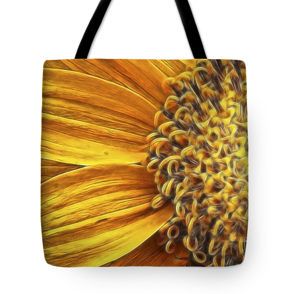 Dahlia Tote Bag featuring the photograph Rays Of Sunshine by Beve Brown-Clark Photography