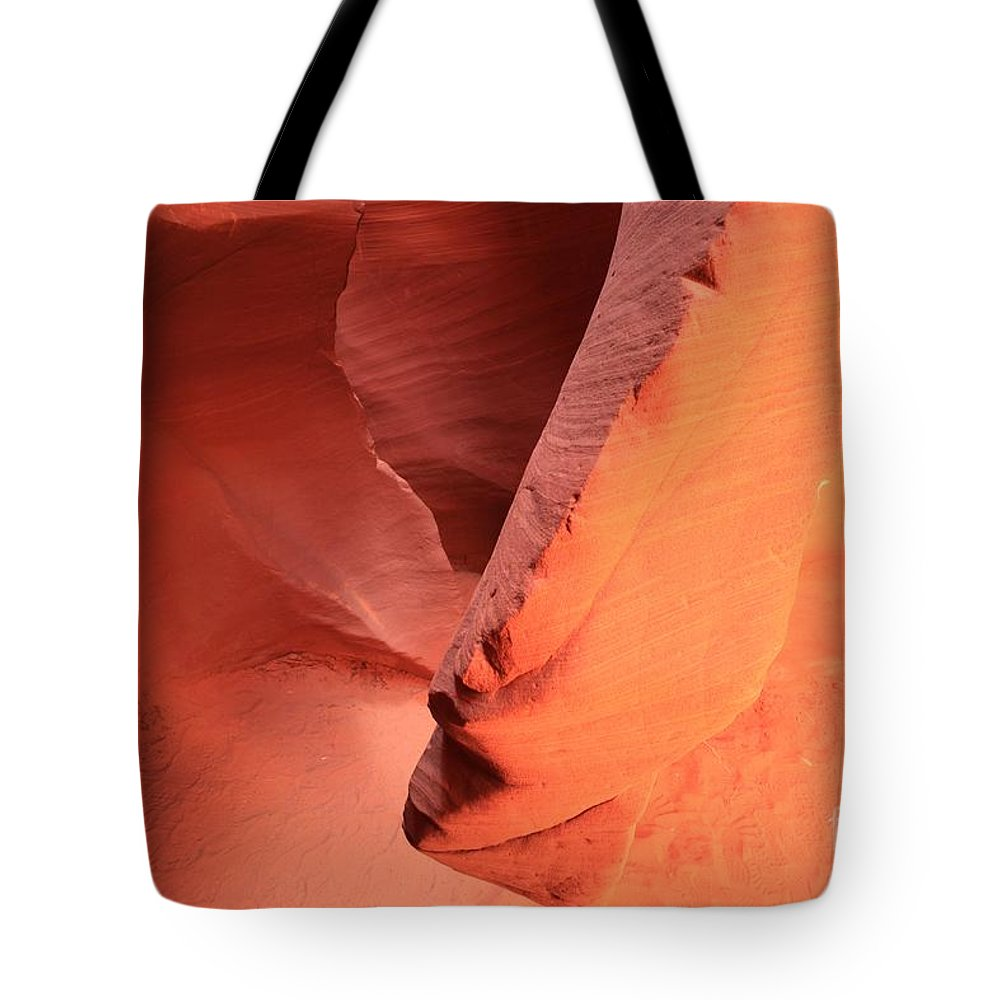 Arizona Slot Canyon Tote Bag featuring the photograph Reaching Down by Adam Jewell
