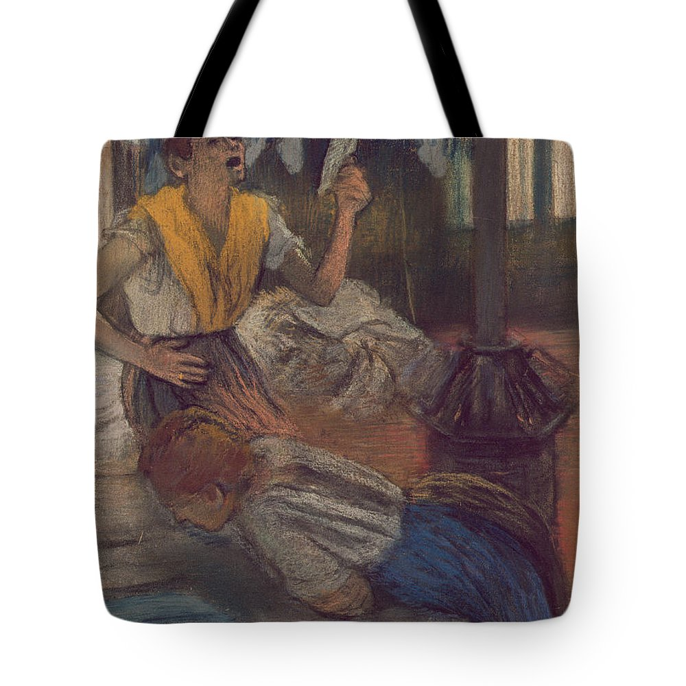 Impressionist Tote Bag featuring the painting Reading A Letter by Edgar Degas