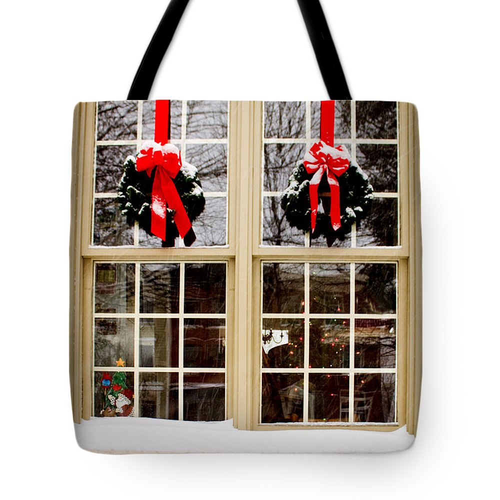 Window Tote Bag featuring the photograph Ready For Christmas by Thomas Marchessault