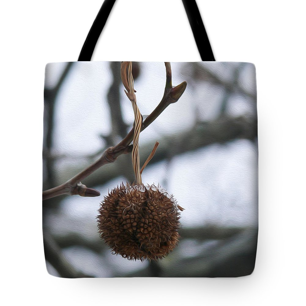 Ice. Branch Tote Bag featuring the photograph Ready To Fall by Tracy Winter