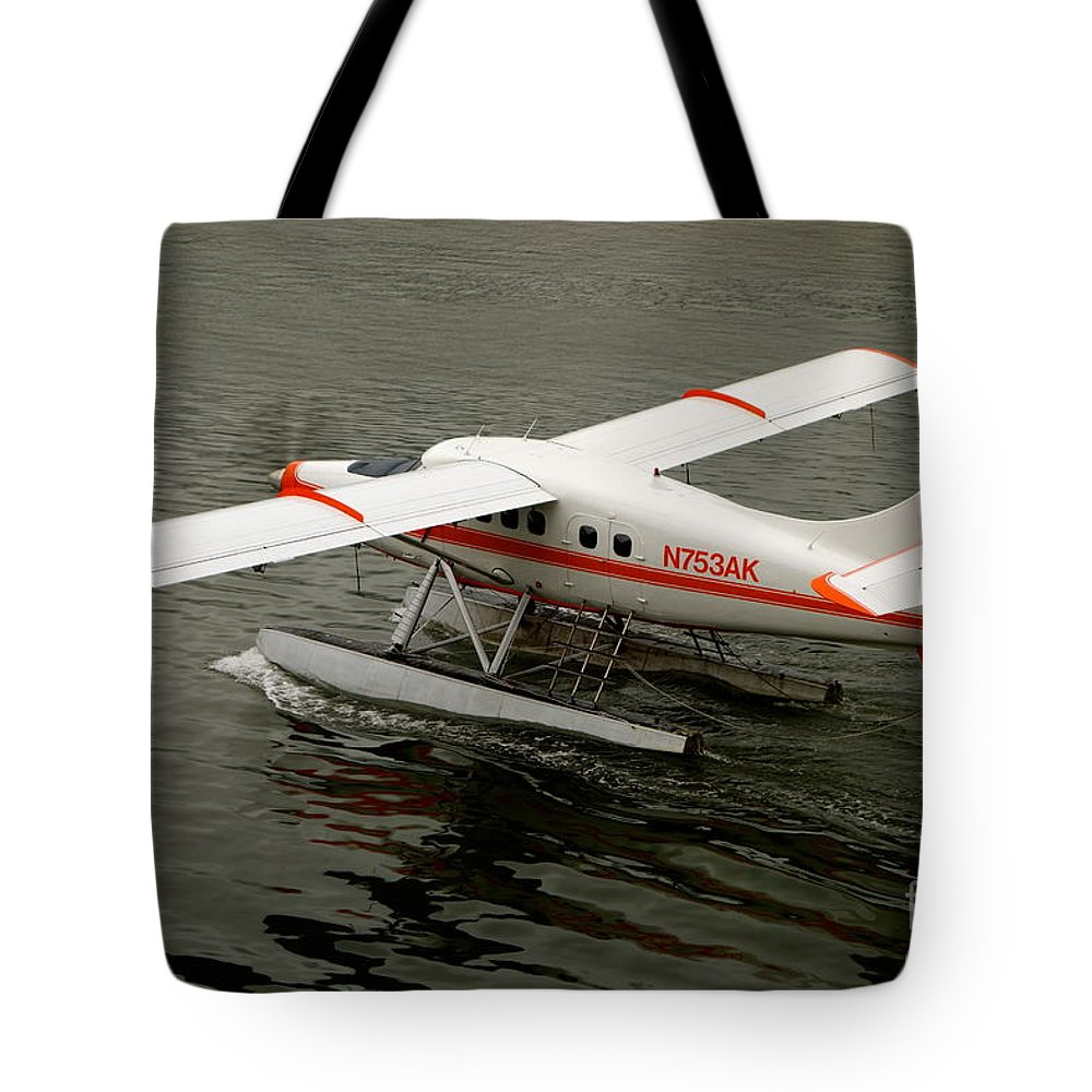 Plane Tote Bag featuring the photograph Ready To Go by Jacqueline Athmann