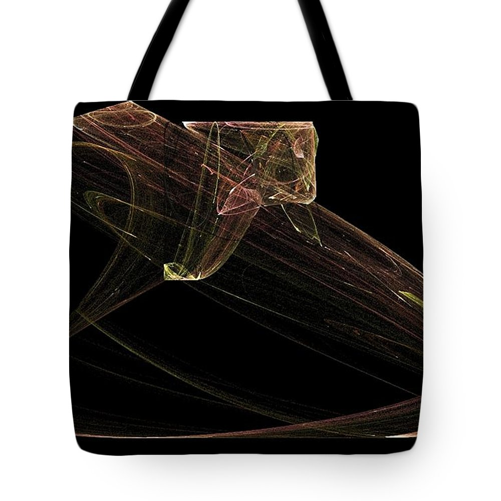 Snake Tote Bag featuring the digital art Ready To Strike by Sara Raber