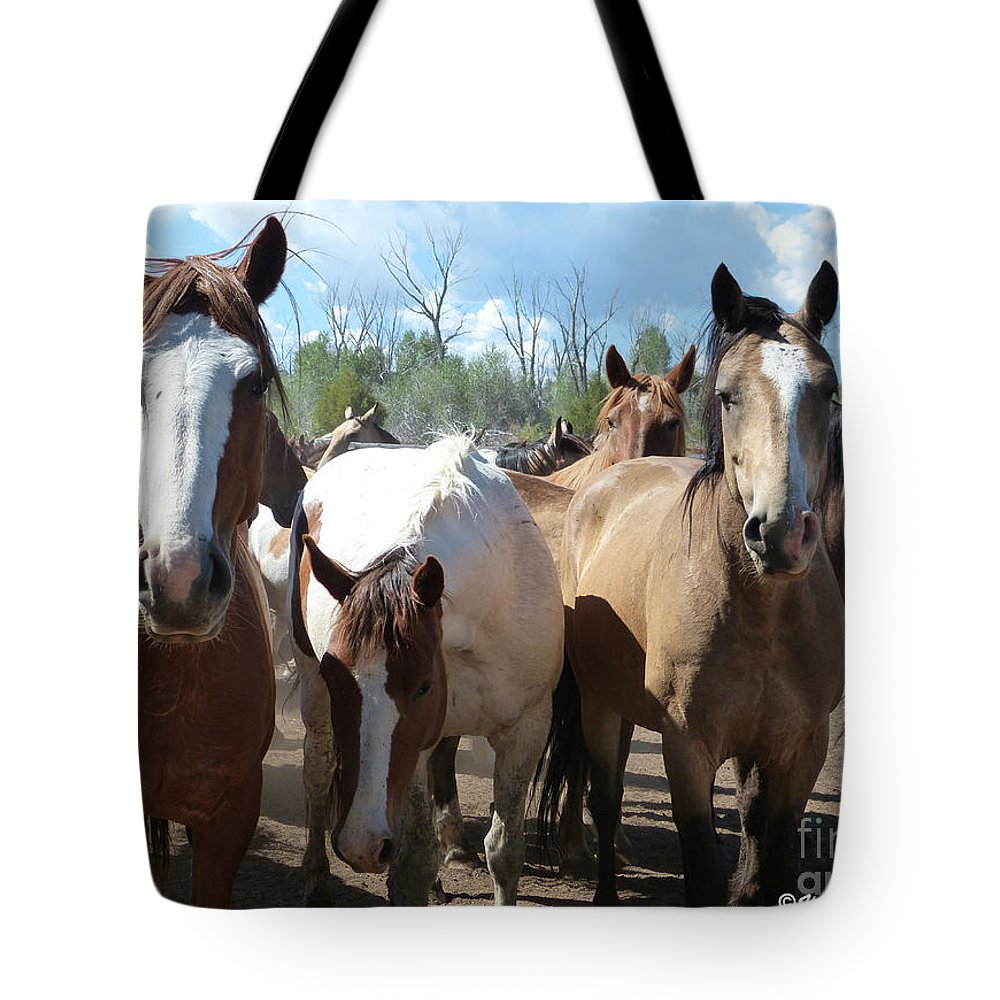 Real Close Tote Bag featuring the photograph Real Close by Vi Brown
