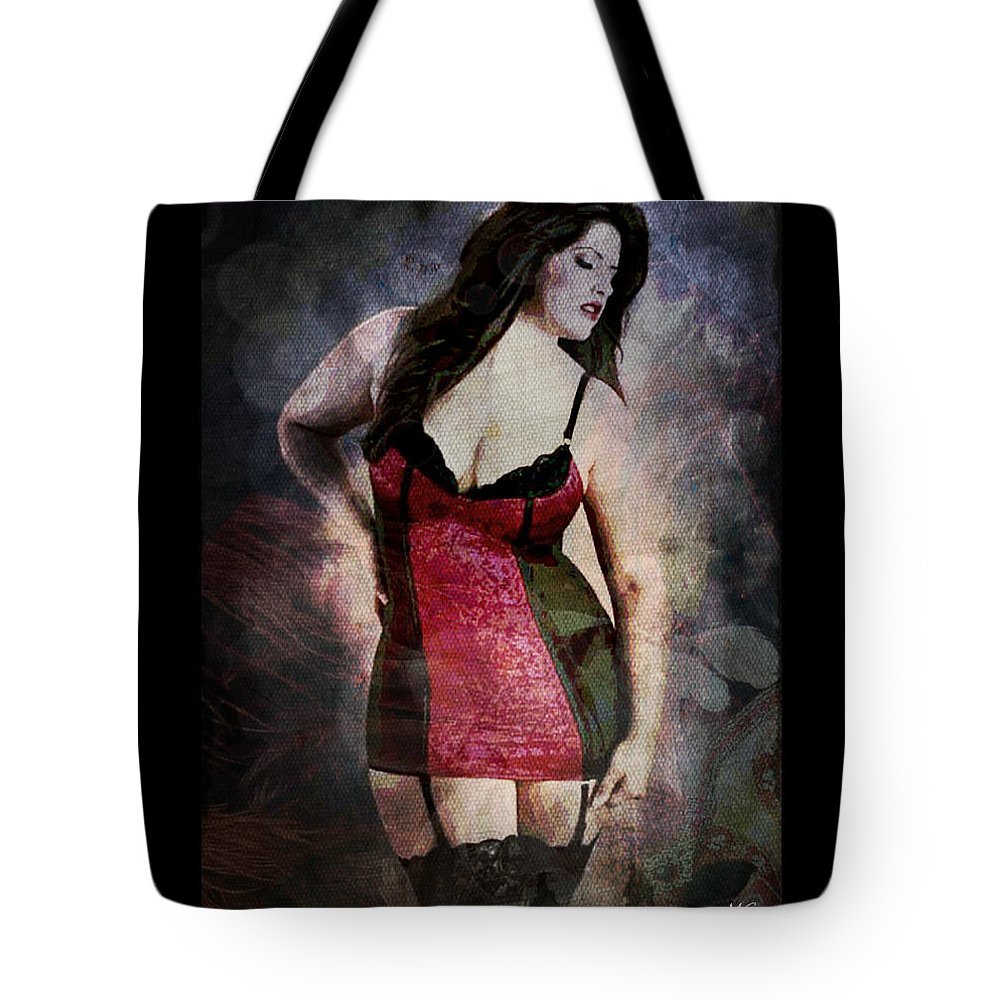 Curvy Tote Bag featuring the digital art Real Woman Real Curves by Absinthe Art By Michelle LeAnn Scott
