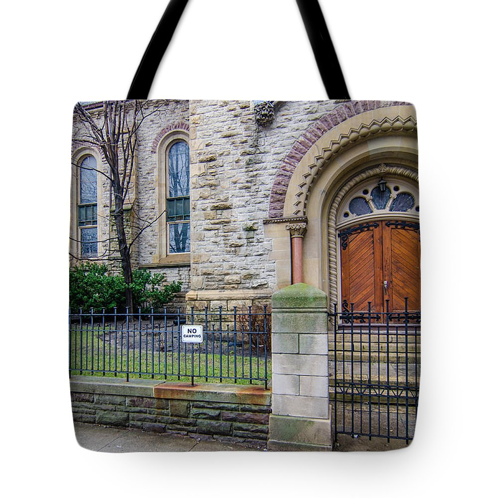 Buildings Tote Bag featuring the photograph Really by Guy Whiteley