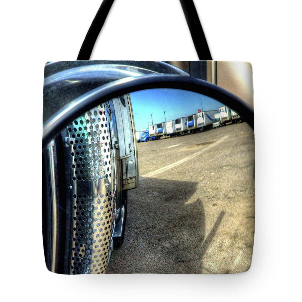 Transportation Tote Bag featuring the photograph Rearview 34671 by Jerry Sodorff