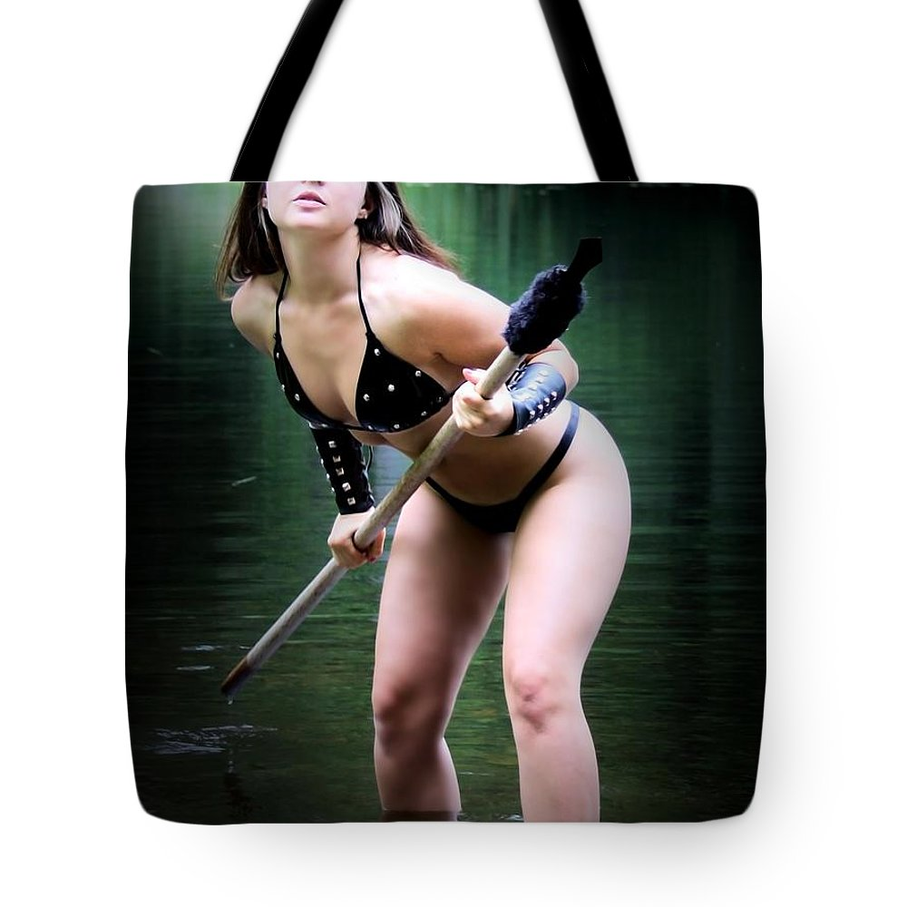 Sexy Tote Bag featuring the photograph Rebel Spear by Jon Volden
