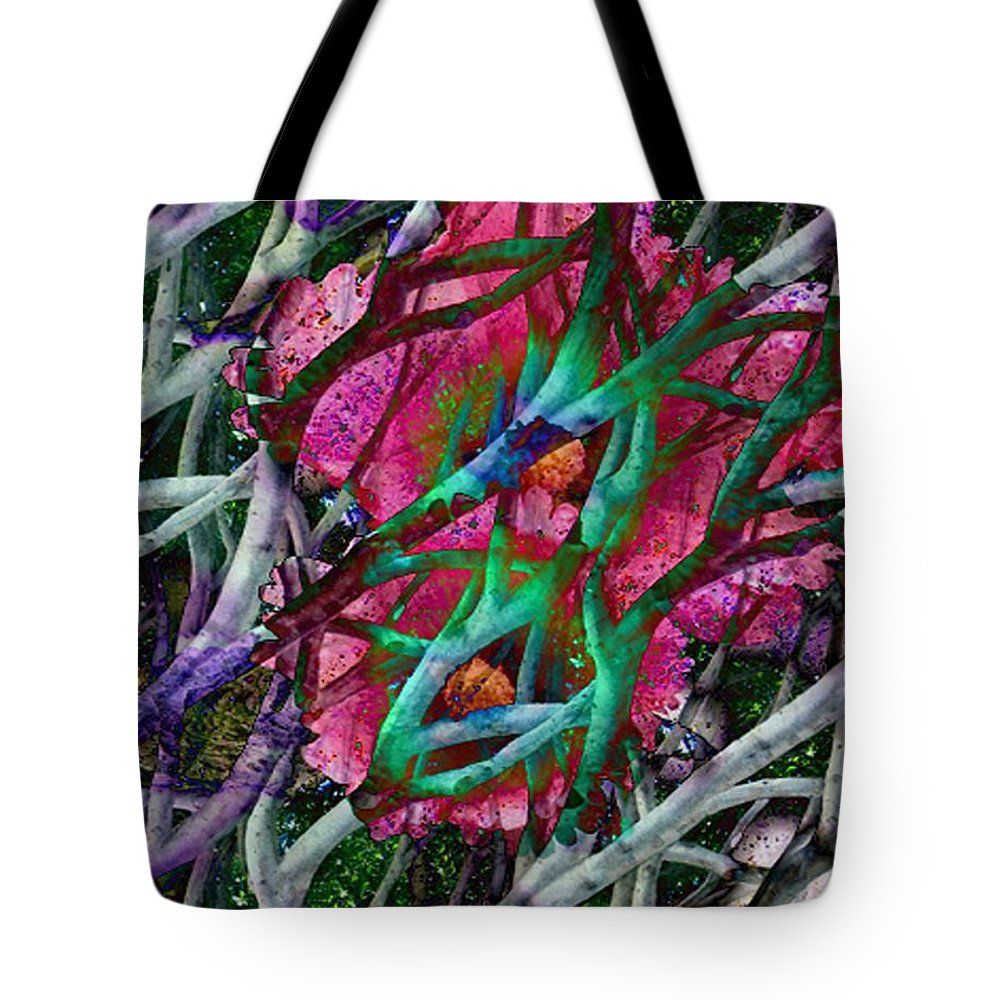 Abstract Tote Bag featuring the digital art Rebirth by Yael VanGruber