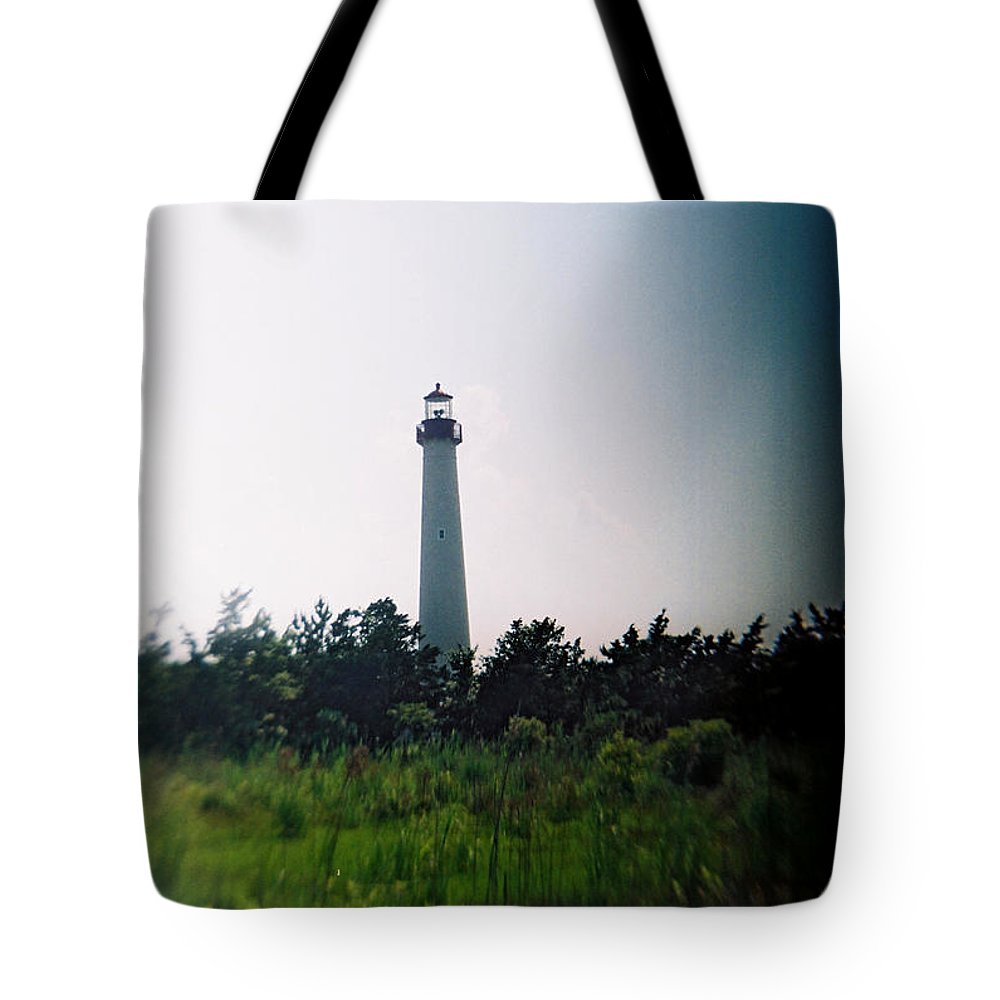 Recesky Tote Bag featuring the photograph Recesky - Cape May Point Lighthouse 1 by Richard Reeve