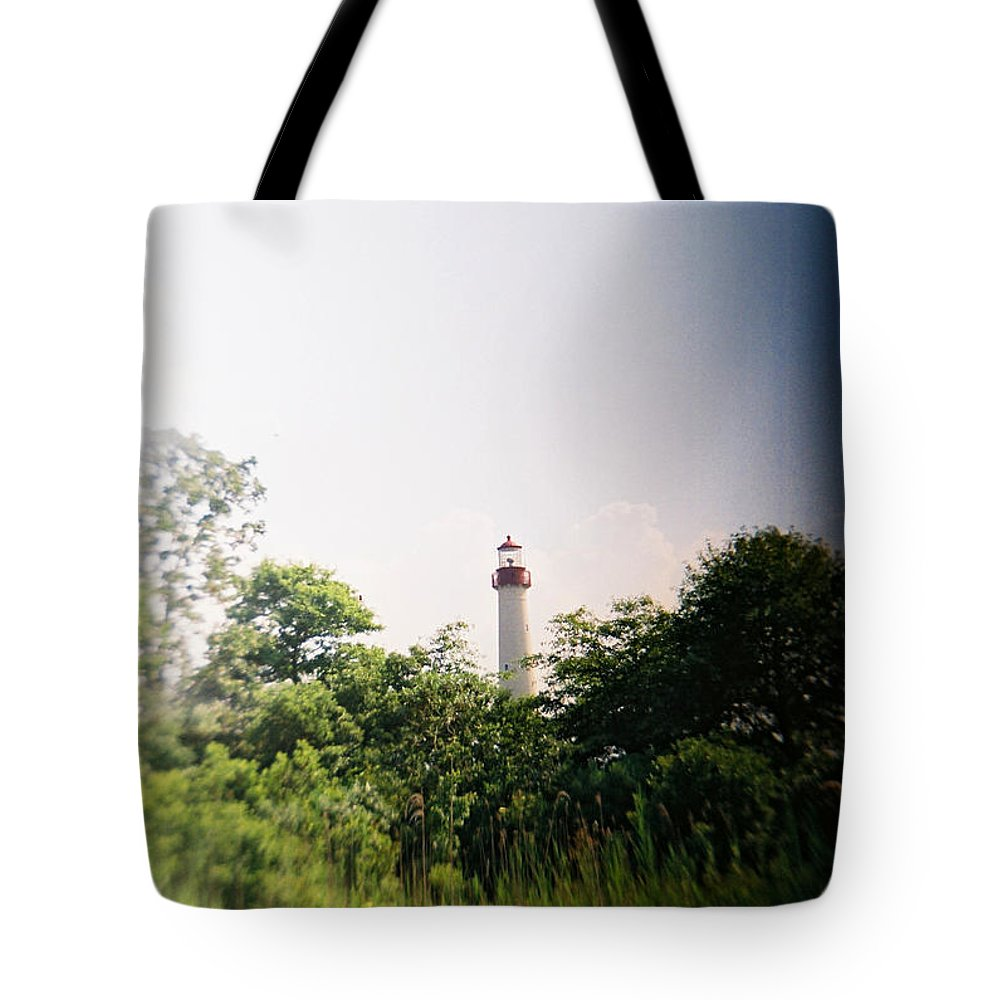 Recesky Tote Bag featuring the photograph Recesky - Cape May Point Lighthouse 2 by Richard Reeve