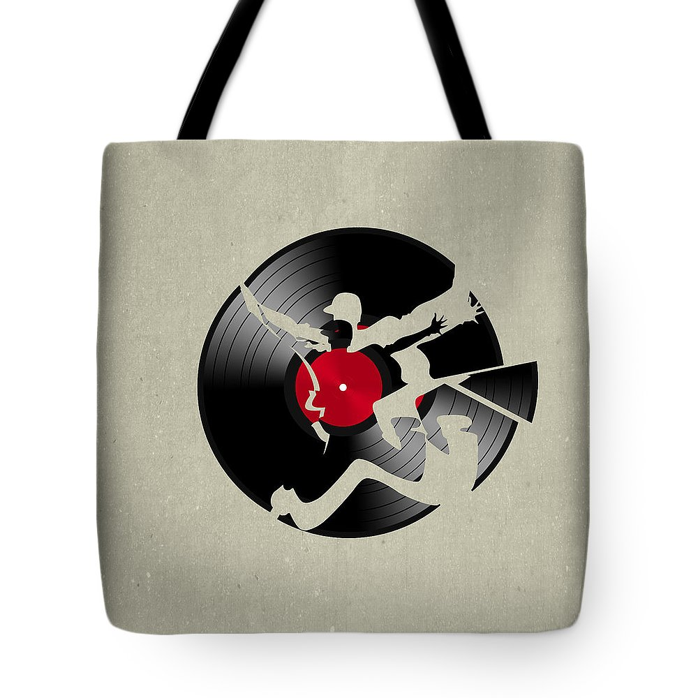 Record Tote Bag featuring the digital art Record 2 by Mark Ashkenazi