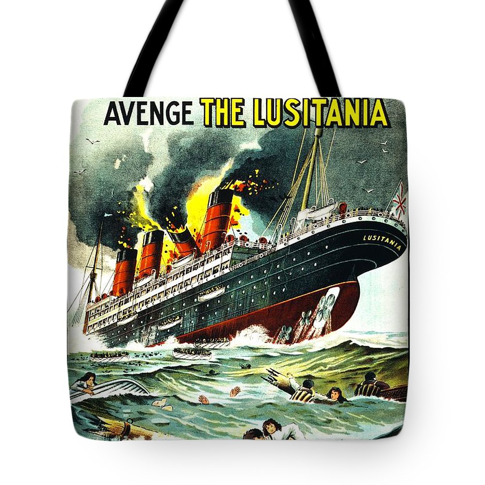 Vintage Tote Bag featuring the photograph Recruiting Poster - Ww1 - Irishmen by Benjamin Yeager