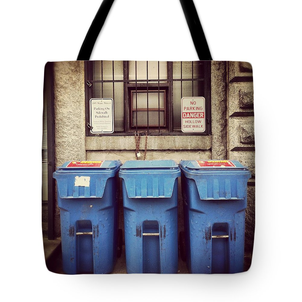 Tote Bag featuring the photograph Recycled Boston by Mark Valentine