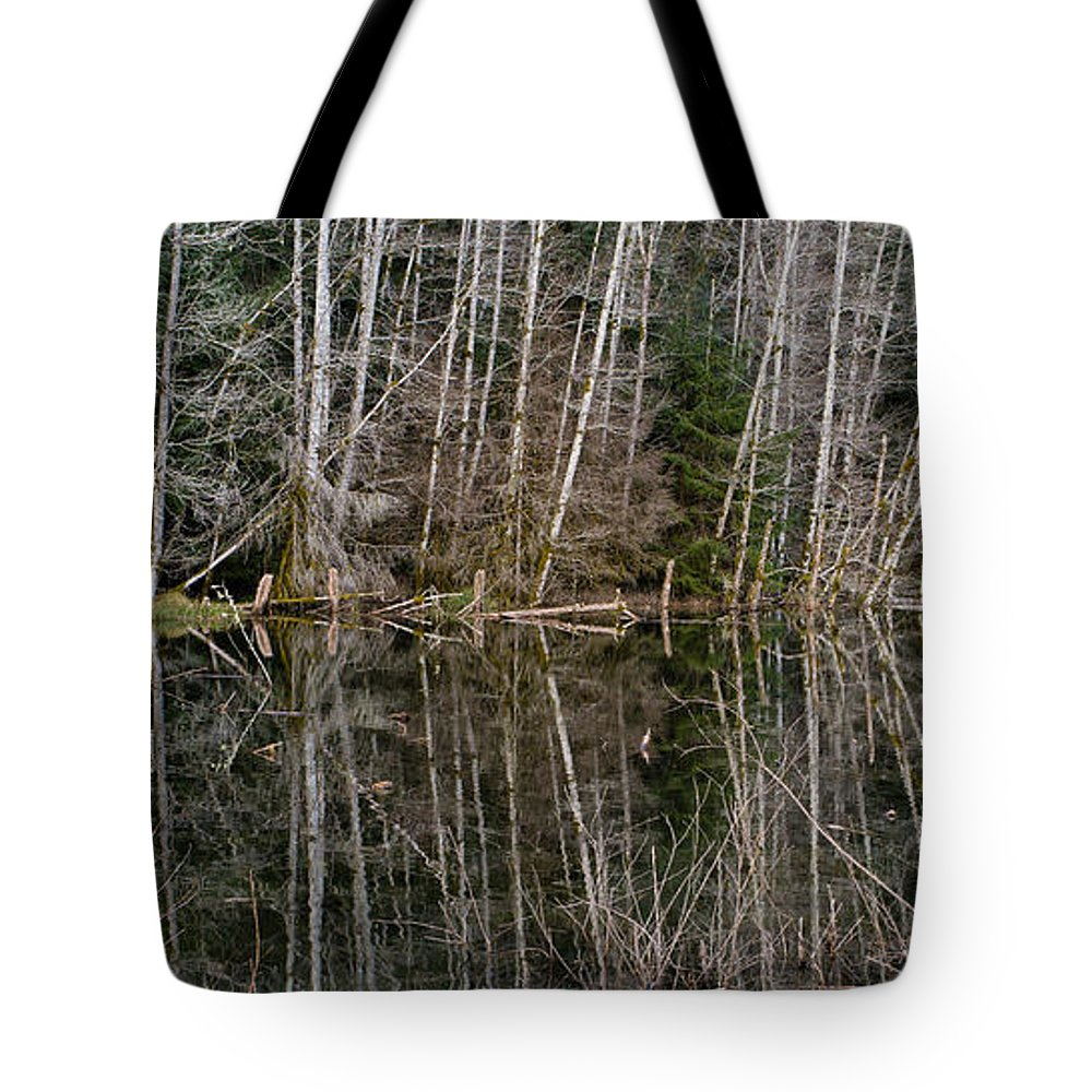 Forest Tote Bag featuring the photograph Red Alders by Tracy Knauer
