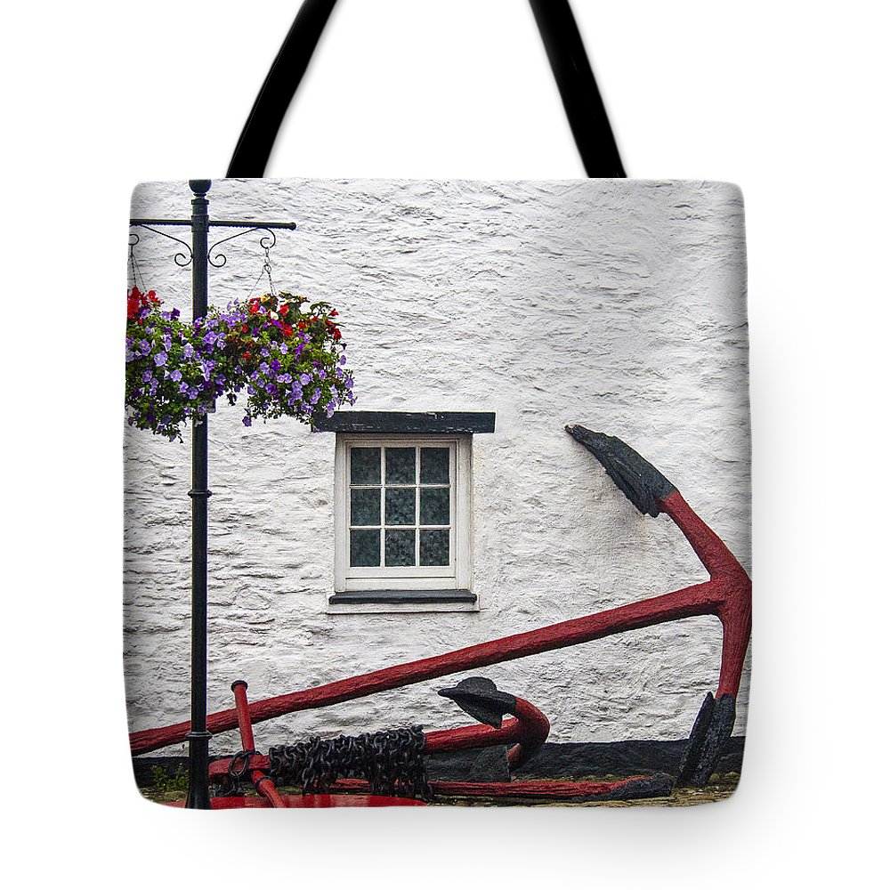Anchor Tote Bag featuring the photograph Red Anchors by Sharon M Connolly