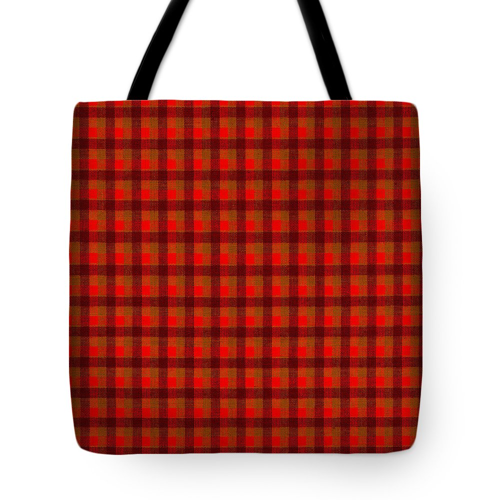 red and black checkered tablecloth cloth background tote bag for