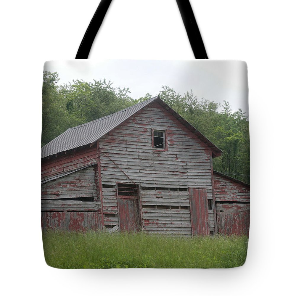 Barn Tote Bag featuring the photograph Red Barn by Dwight Cook