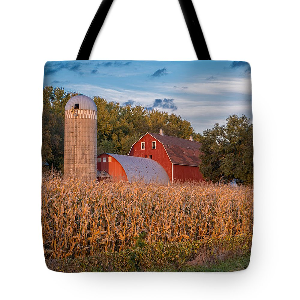 Red Barn Tote Bag featuring the photograph Red Barn by Shane Mossman