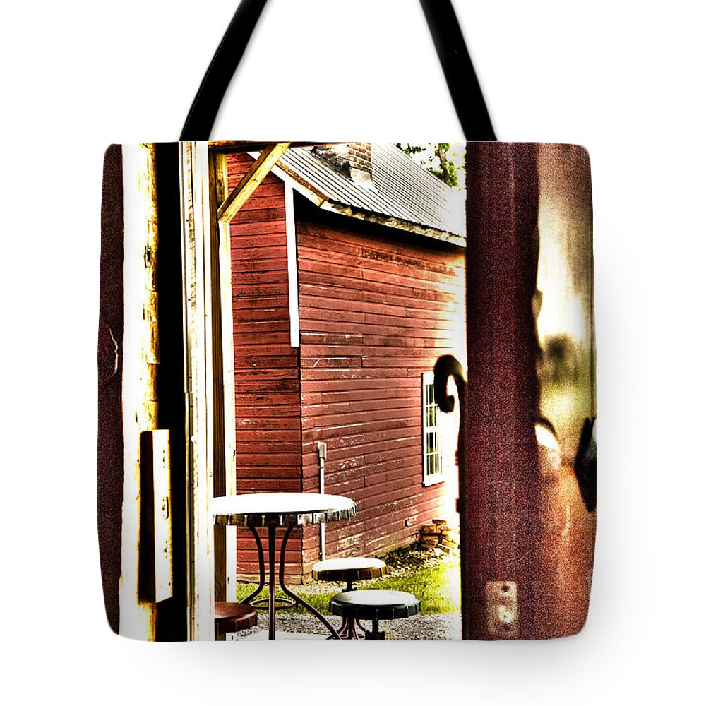 Red Tote Bag featuring the photograph Red Barn by William Norton