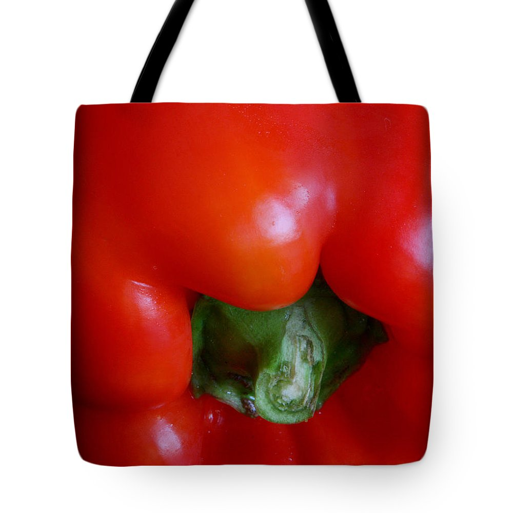 Pepper Tote Bag featuring the photograph Red Bell Pepper by Joe Kozlowski