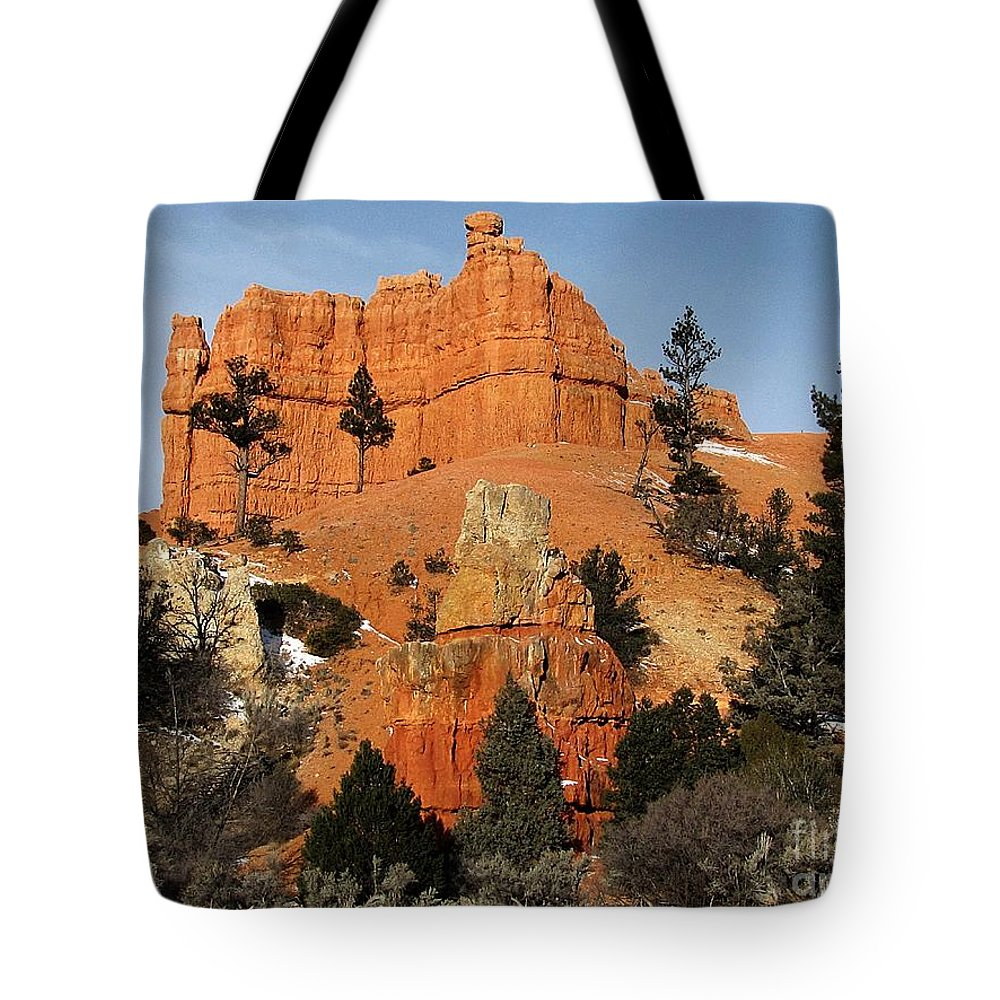 Utah Tote Bag featuring the photograph Red Canyon - Scenic Byway 12 by Sheryl Young