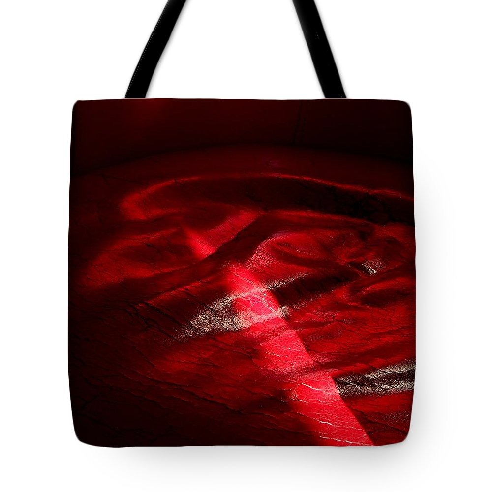 Red Tote Bag featuring the photograph Red Chair by David Pantuso
