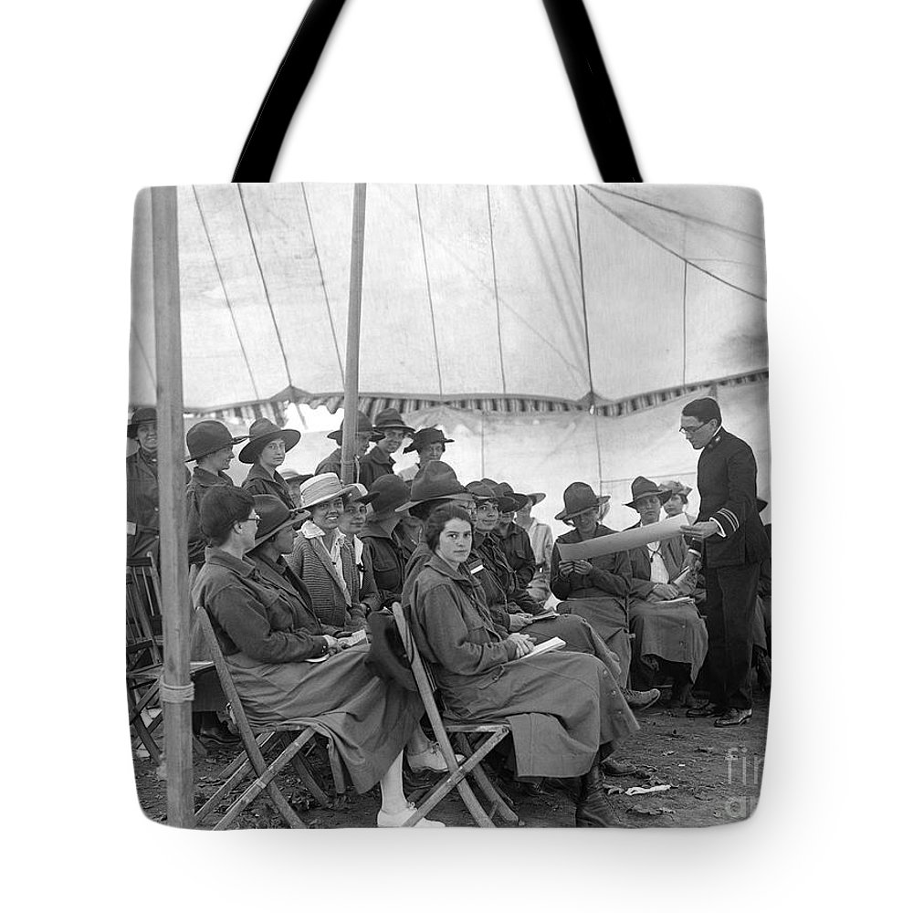 1916 Tote Bag featuring the photograph Red Cross, 1916 by Granger
