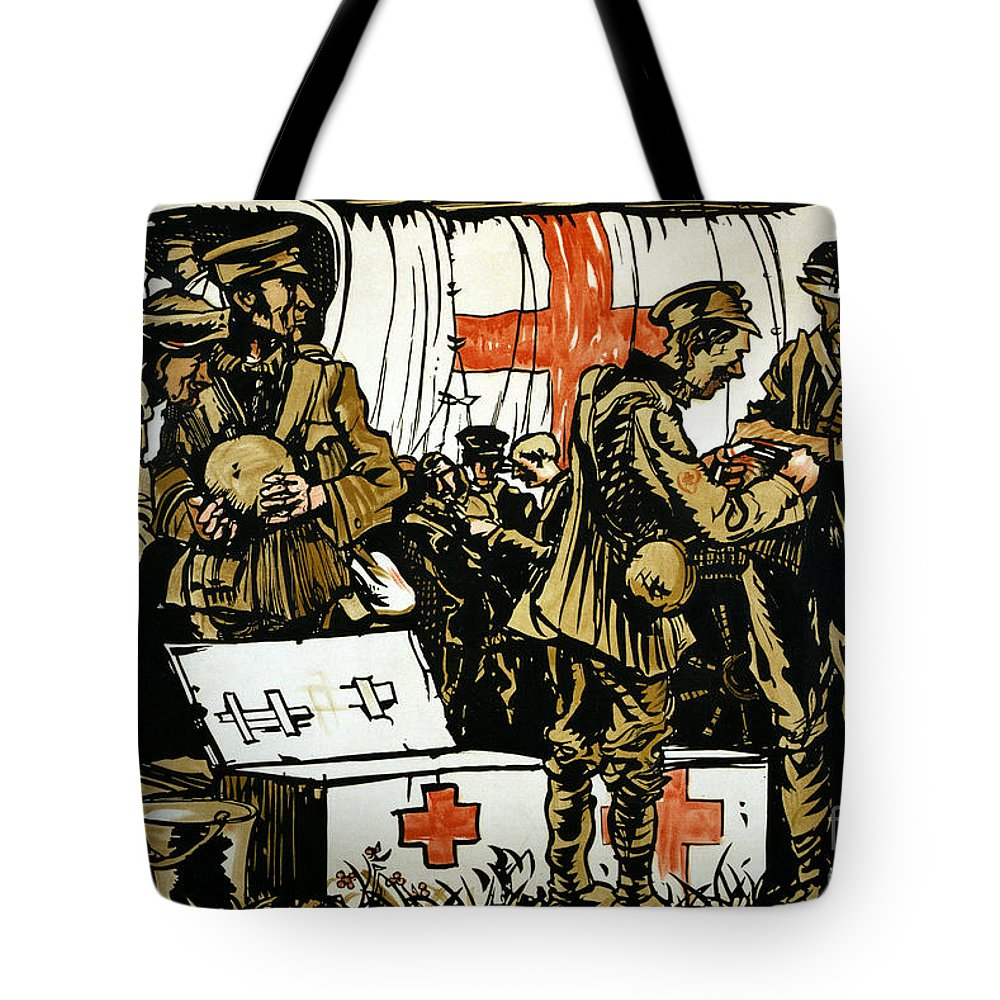 1915 Tote Bag featuring the photograph Red Cross Poster, 1915 by Granger