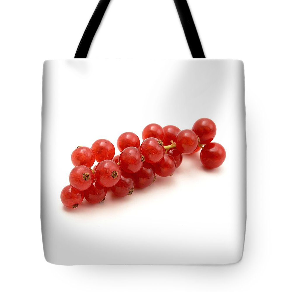 White Background Tote Bag featuring the photograph Red Currant by Fabrizio Troiani