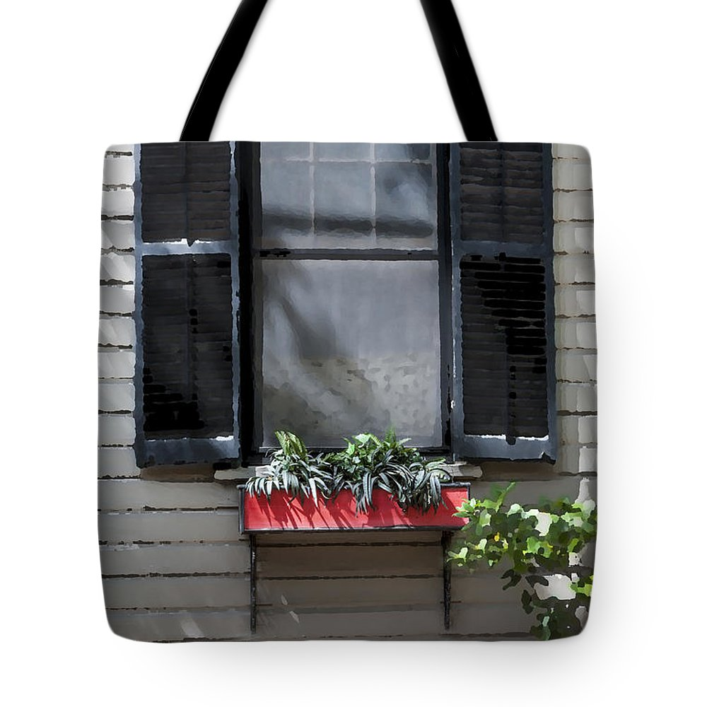St. Augustine Tote Bag featuring the photograph Red Flower Box St Augustine by Rich Franco