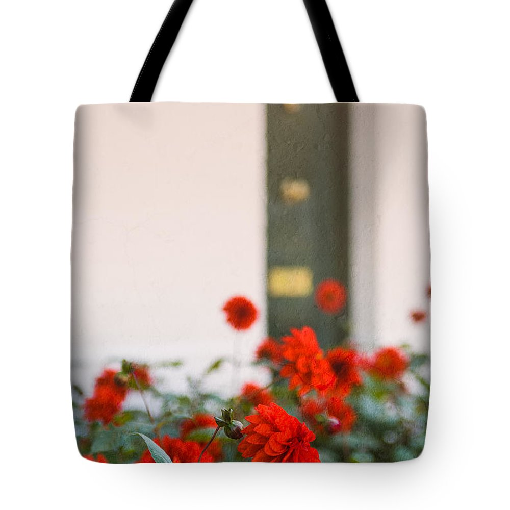 Bud Tote Bag featuring the photograph Red Flowers by Mark Llewellyn