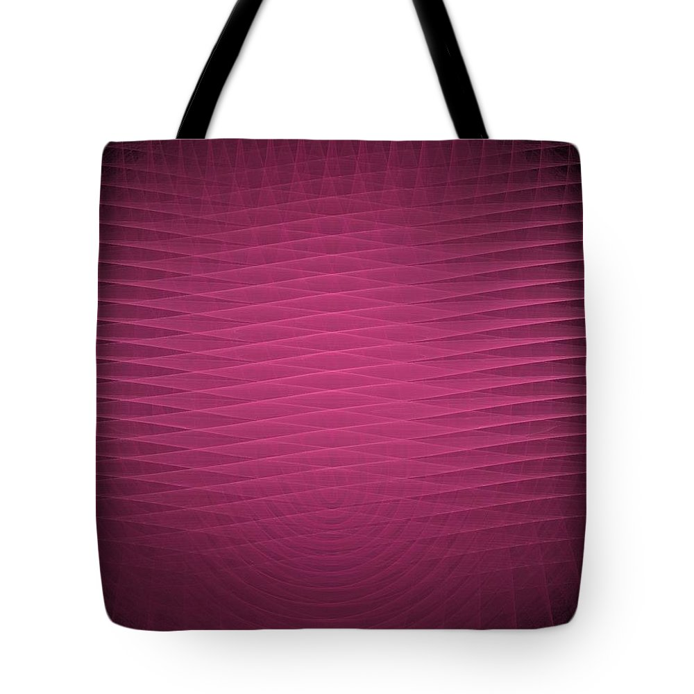 Red Tote Bag featuring the painting Red Fractal Background by Bruce Nutting