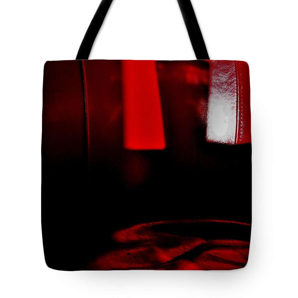 Red.glass Tote Bag featuring the photograph Red Glass by David Pantuso