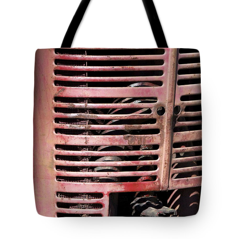 Tractor Tote Bag featuring the photograph Red Grill by Sheryl Bergman