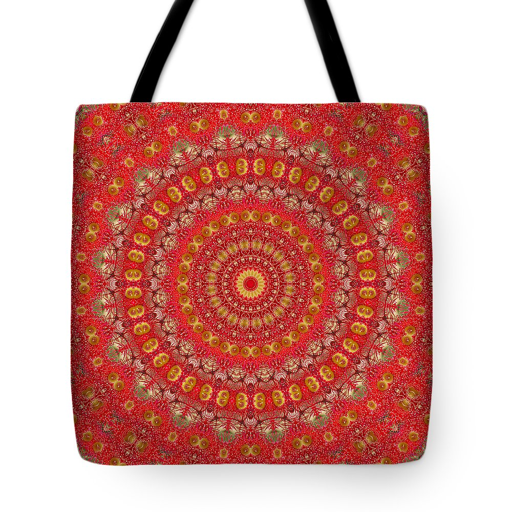 Red Gum Flower Tote Bag featuring the photograph Red Gum Flowers Mandala by Ben Bassey